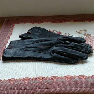 Ralph Lauren Black Leather W/Maroon Details 7